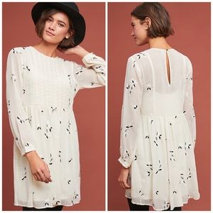 NWT Anthropologie Feather Bone Feuille Dress